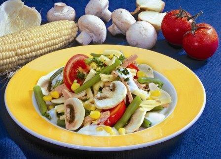 gemuese mais salat
