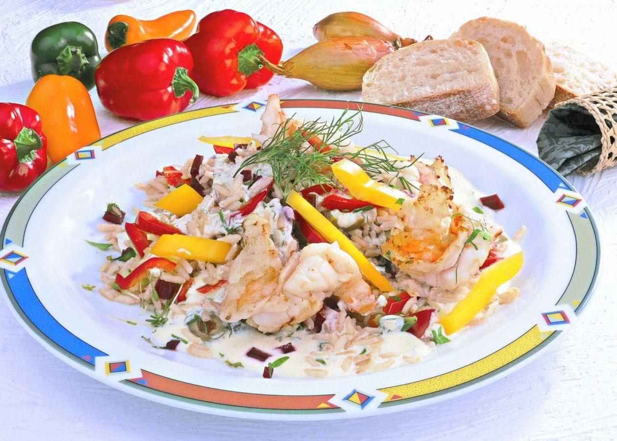 scampi estragon salat