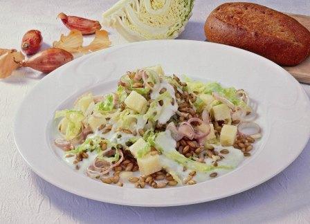 Wirsing-Käse-Salat mit Gerste - BCM Diät Rezepte.ch
