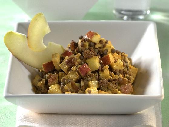 Tofu-Curry mit Linsen und Bananen - BCM Diät Rezepte.ch
