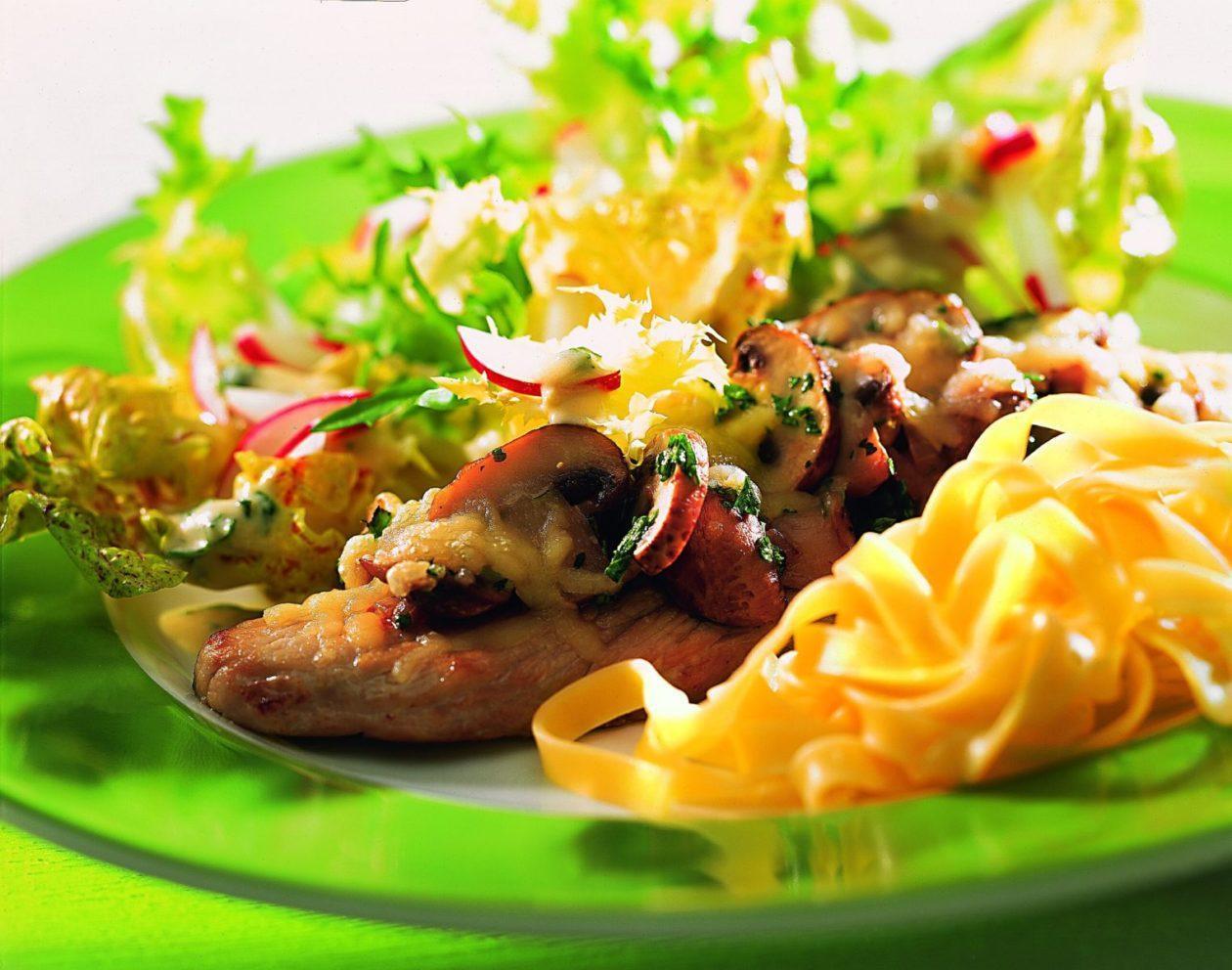 gratinierte champignonschnitzel