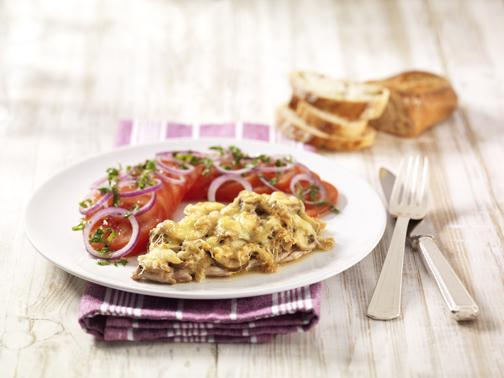 Überbackene Champignonschnitzel - BCM Diät Rezepte.ch