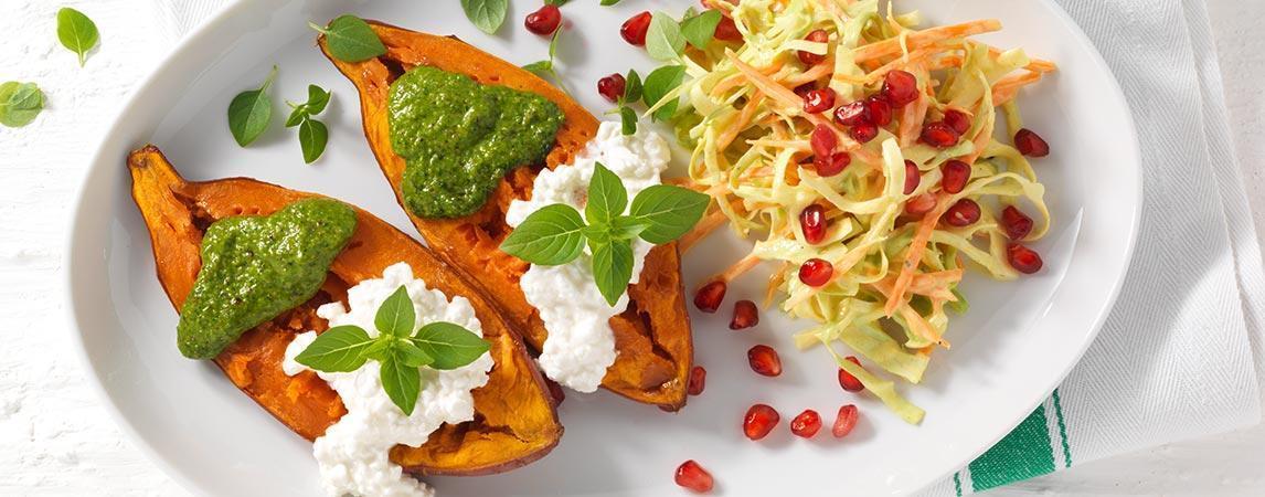 Suesskartoffeln Rohkost Salat Pesto 3 1