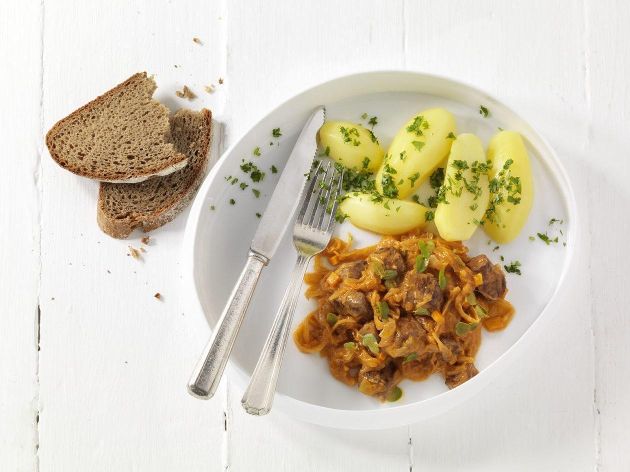 Rinder Sauerkraut Ragout Kartoffeln 1
