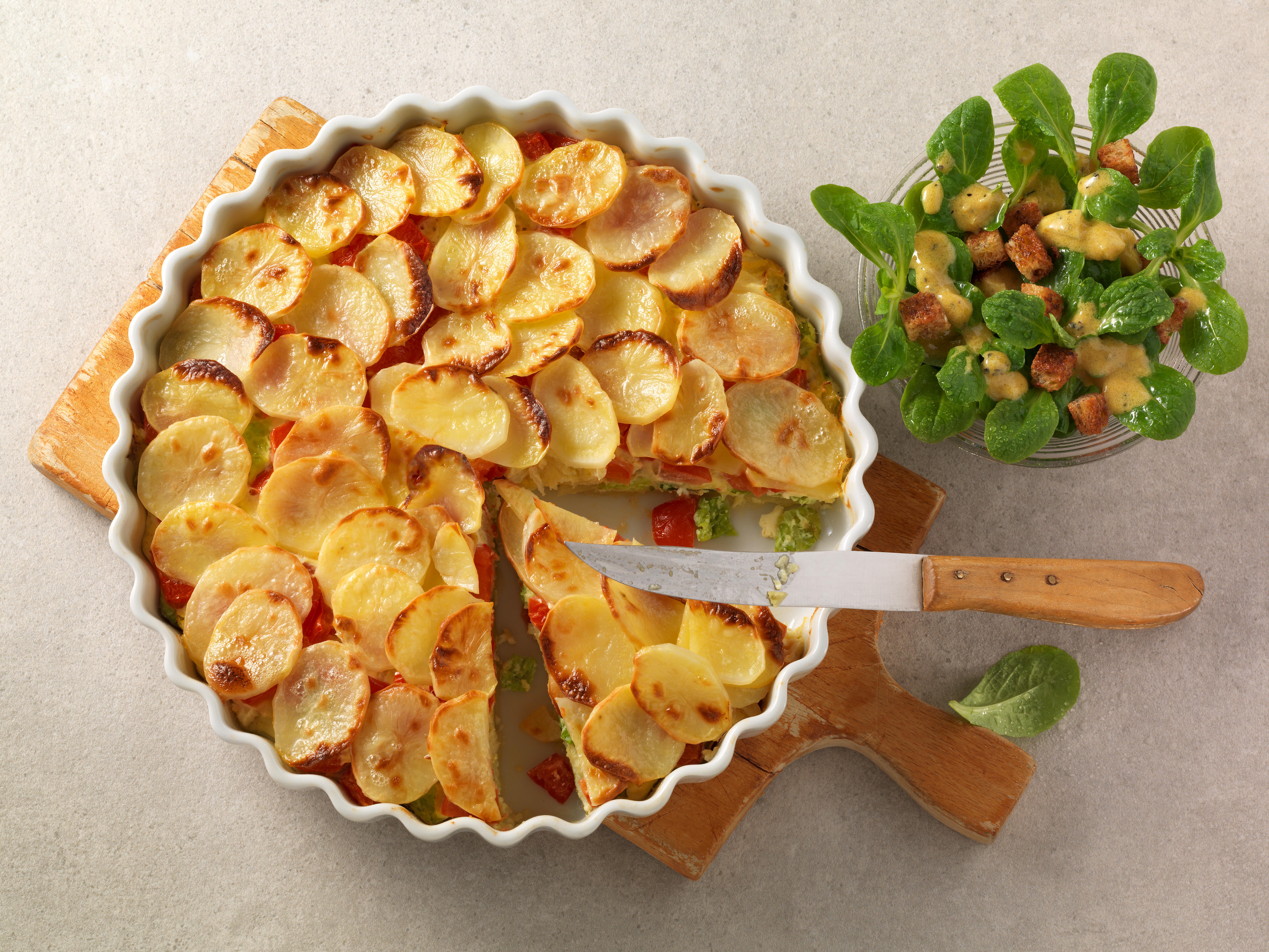 Kartoffel-Wirsing-Auflauf