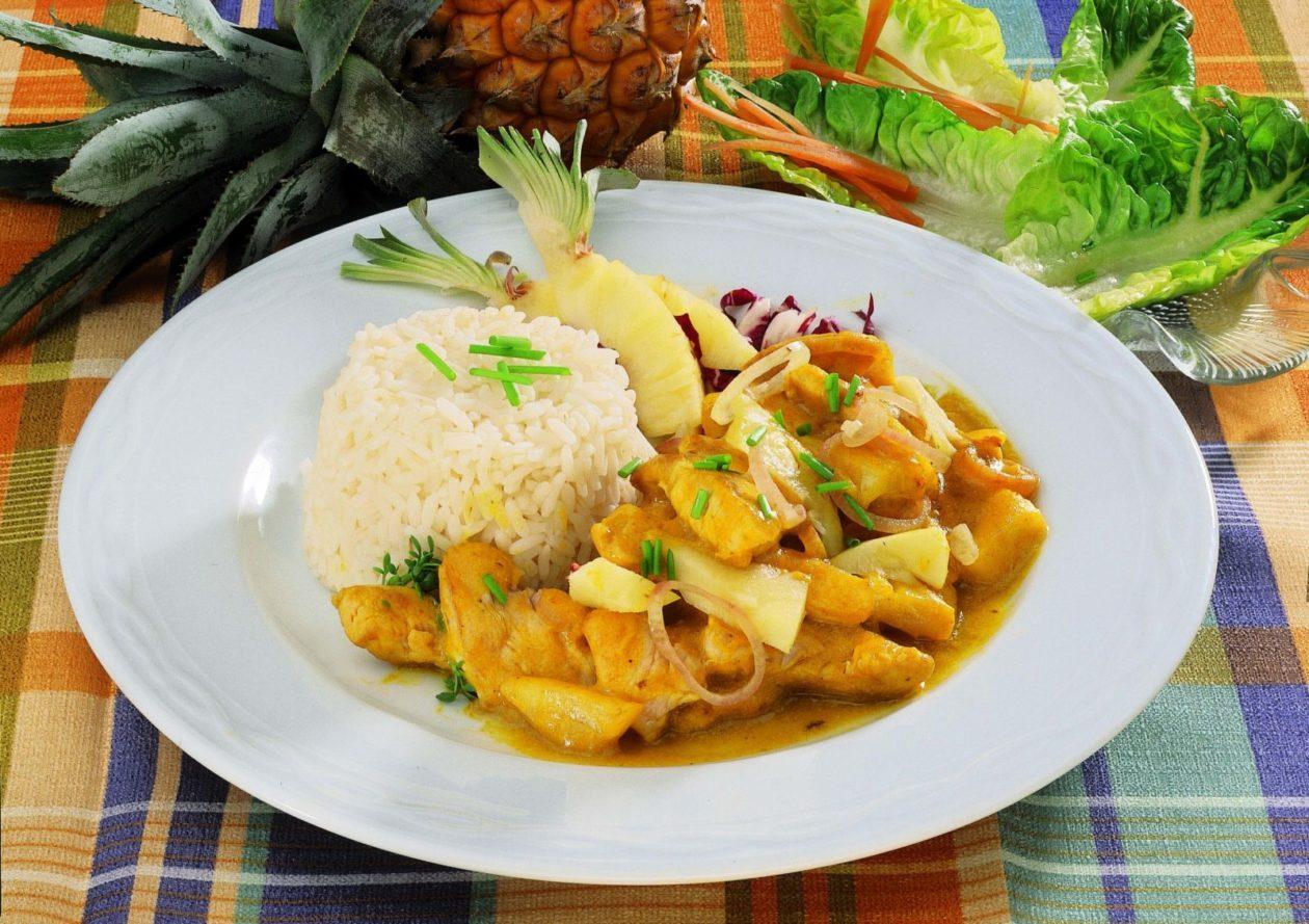 Hähnchencurry mit Ananas - BCM Diät Rezepte.ch