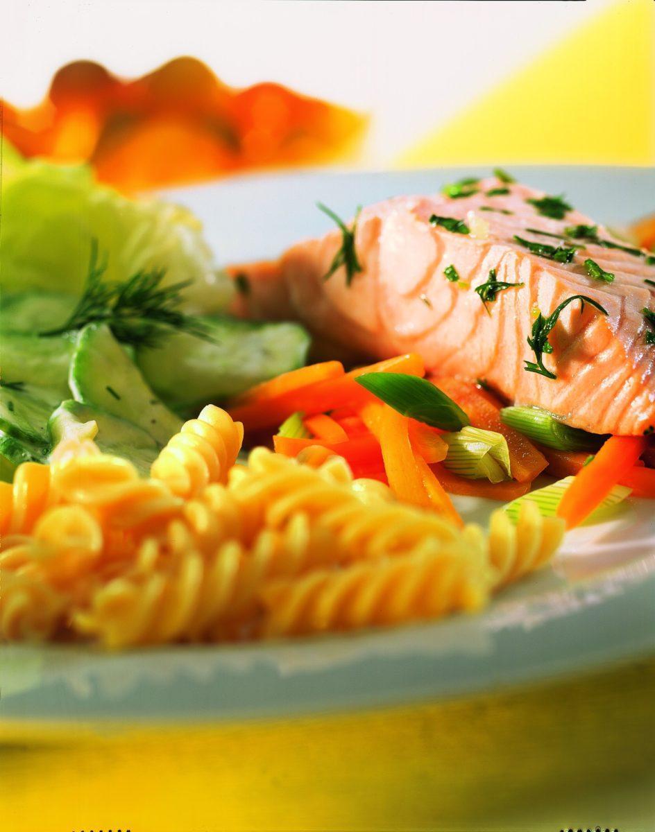 Kräuterlachs mit Gurkensalat - BCM Diät Rezepte.ch