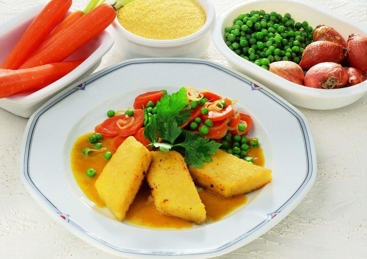 Polenta mit Karottencurry - BCM Diät Rezepte.ch