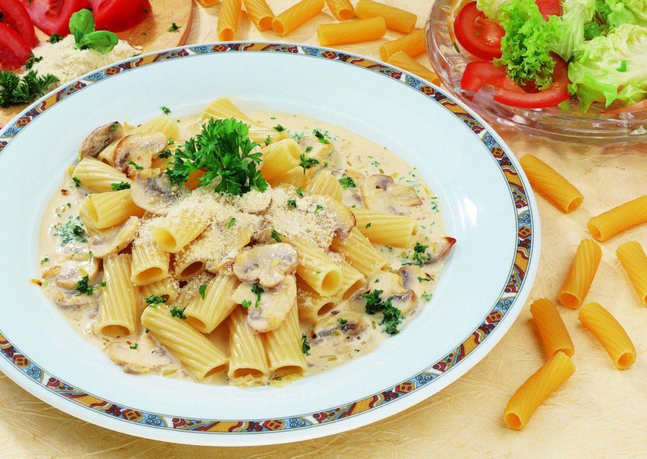 Rigatoni mit Pilzen - BCM Diät Rezepte.ch
