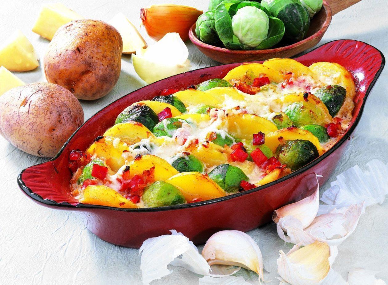 Rosenkohl Kartoffel Auflauf Precon Diat Rezepte