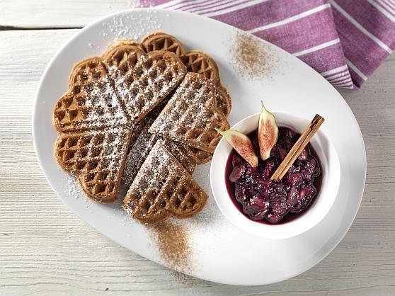 Zimtwaffeln mit Feigen-Lavendelkompott - BCM Diät Rezepte.ch