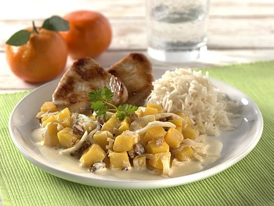 Putenmedaillons auf Gewürzkürbis - BCM Diät Rezepte.ch