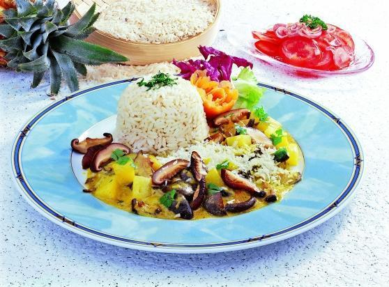 Reisteller mit Shii-Take-Pilzen - BCM Diät Rezepte.ch