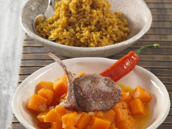 Lammkotelett auf Kürbis und Sesamreis - BCM Diät Rezepte.ch