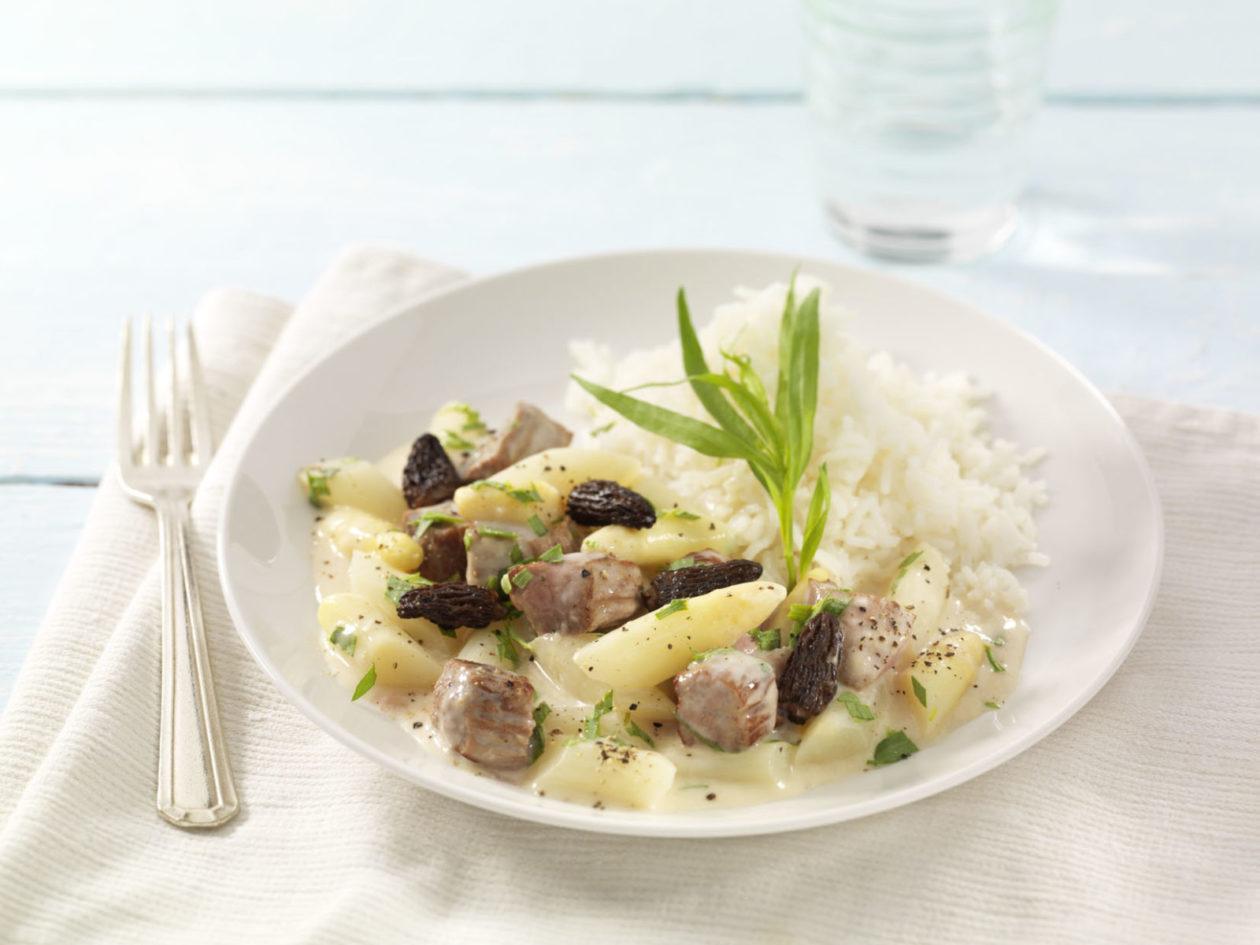 Kalbsragout in Weißweinsauce - BCM Diät Rezepte.ch