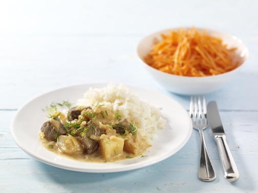 Rindfeischragout mit Senfgurken - BCM Diät Rezepte.ch