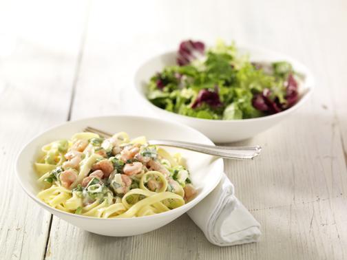 Tagliatelle mit Krabben in Zitronensauce - BCM Diät Rezepte.ch