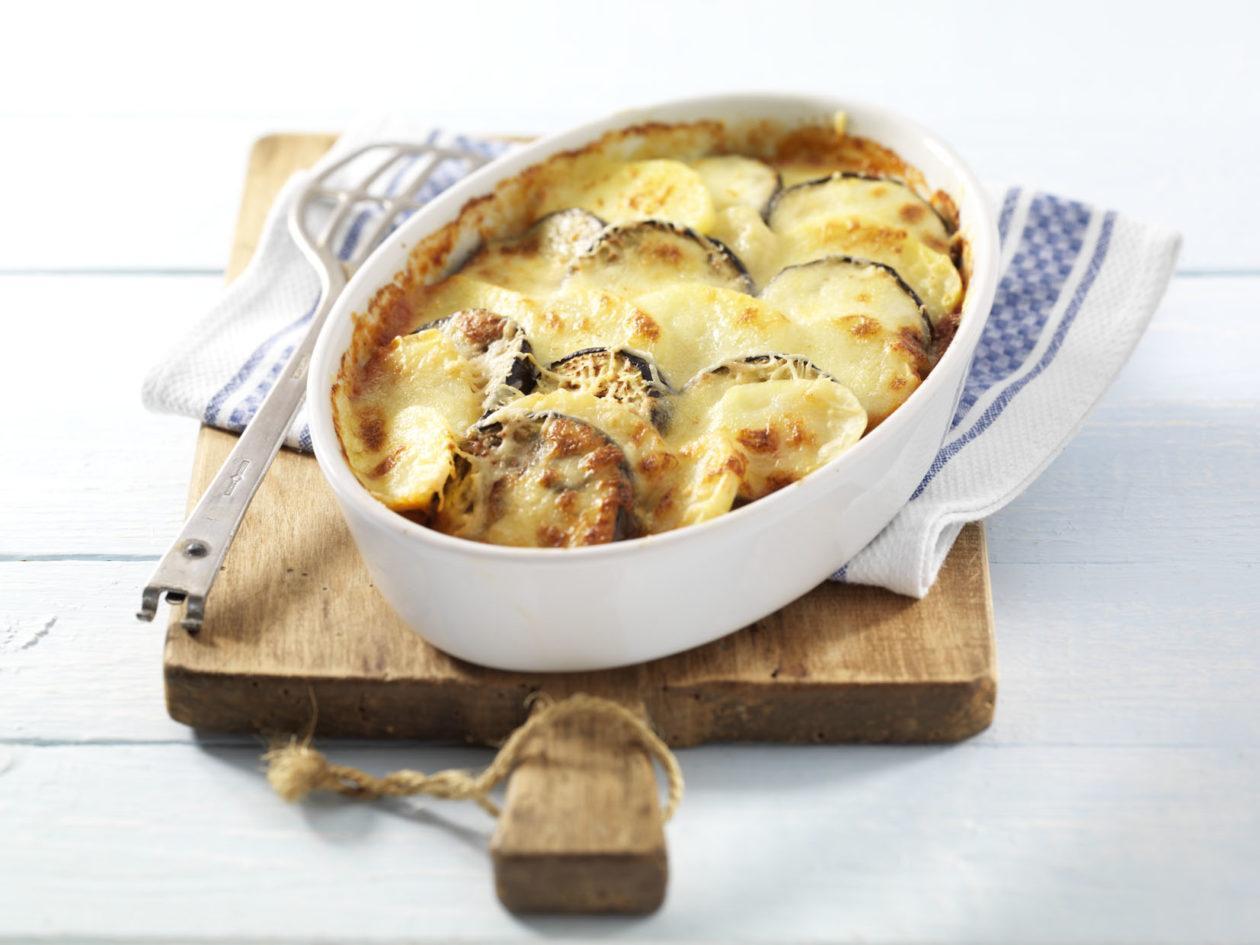 Kartoffel-Auberginen-Auflauf  - BCM Diät Rezepte.ch
