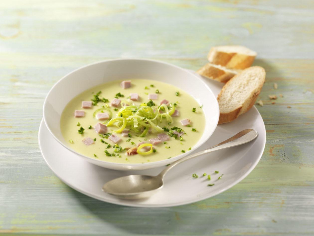 Wärmende Lauch-Kartoffel-Suppe mit Kasseler - BCM Diät Rezepte.ch