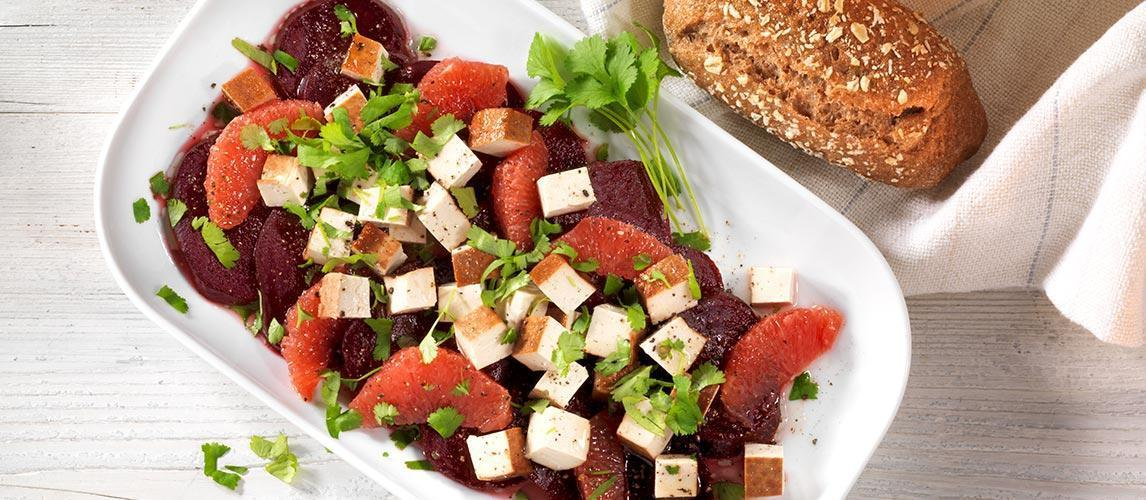 Randensalat mit Grapefruit und Räuchertofu - BCM Diät Rezepte.ch