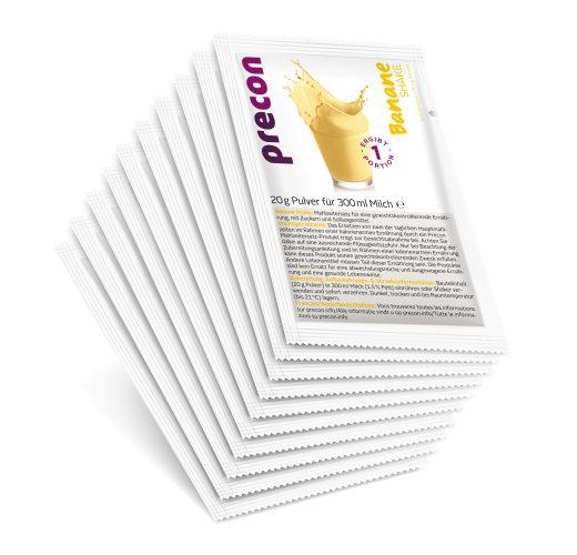 Image of Precon Diät - Bananen Shake - Einzelportionen (10 Portionen)
